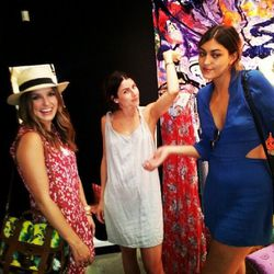 Actress Sophia Bush with friends [Photo via Closet Rich]