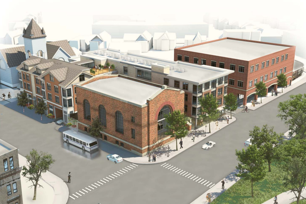 Rendering of the renovated substation