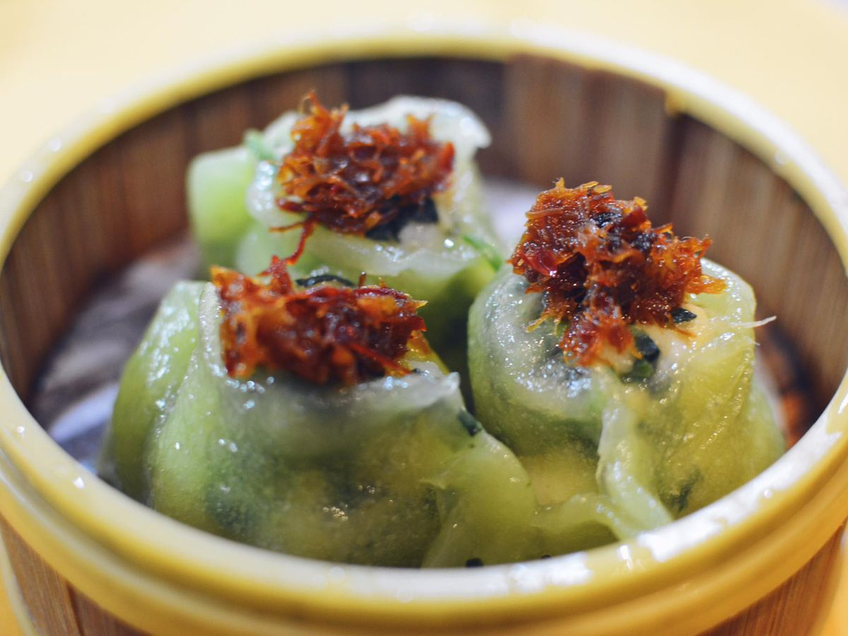 XO spinach dumplings at Dragon Beaux