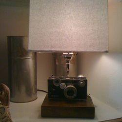 Hemingway's own camera lamp