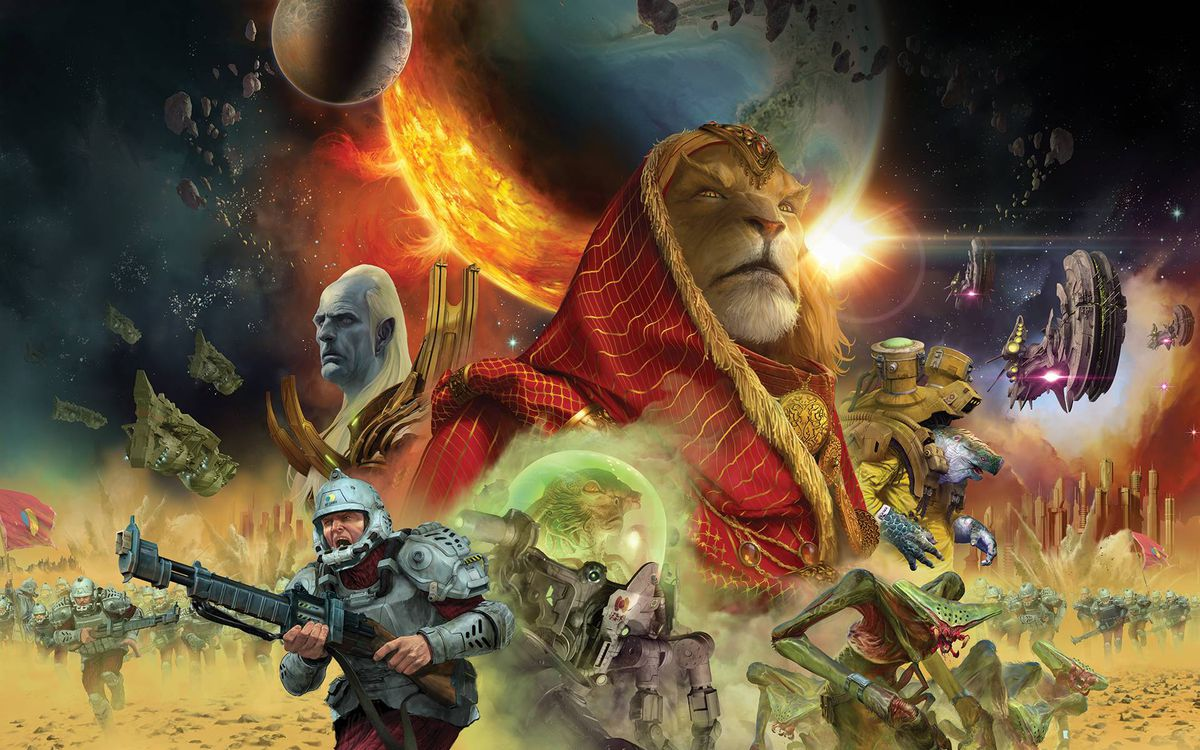 Cover art for Twilight Imperium's 4th edition.