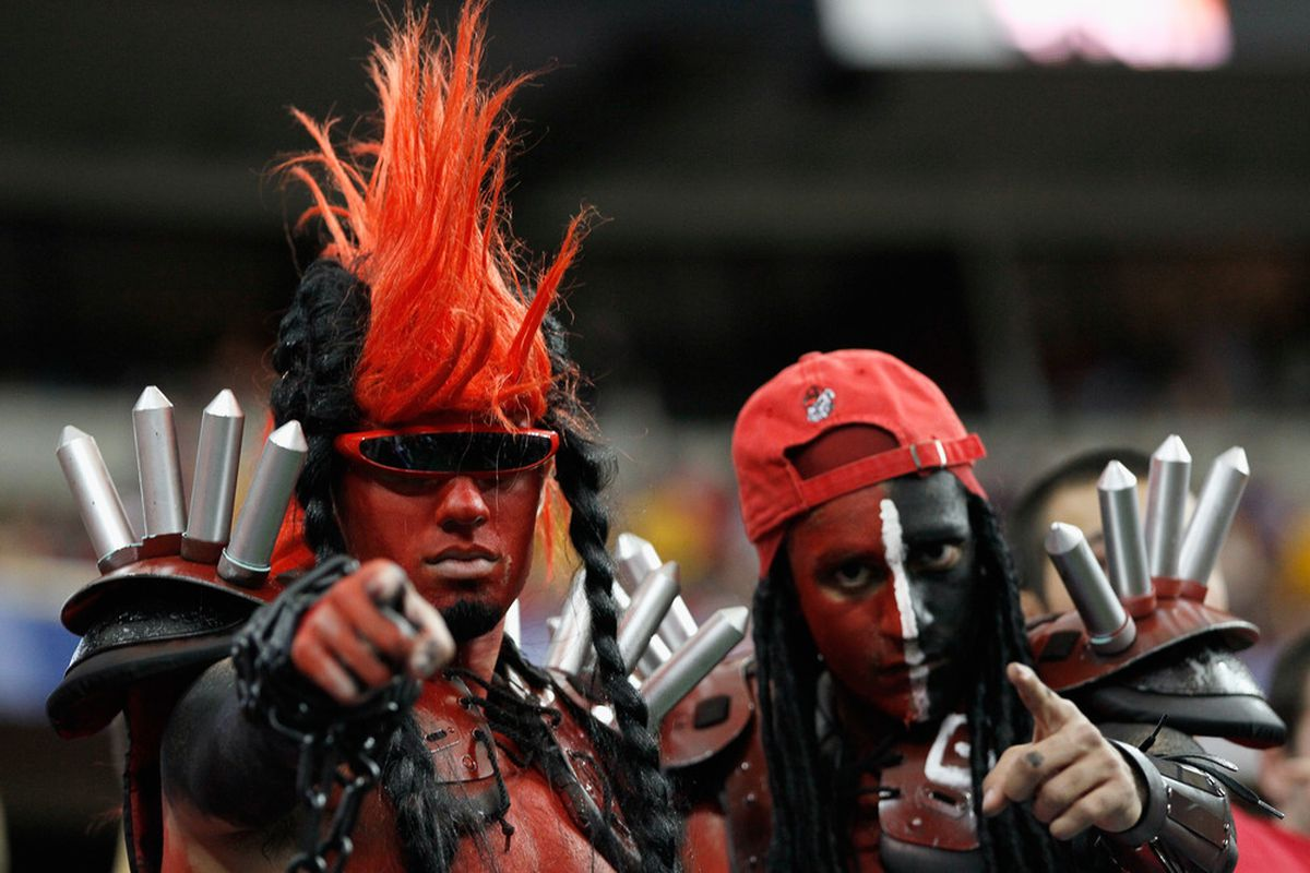 ATLANTA, GA - DECEMBER 03:  Once LSU woke up at the SEC Championship, these guys actually represented the University of Georgia better than their football team did.  (Photo by Kevin C. Cox/Getty Images)