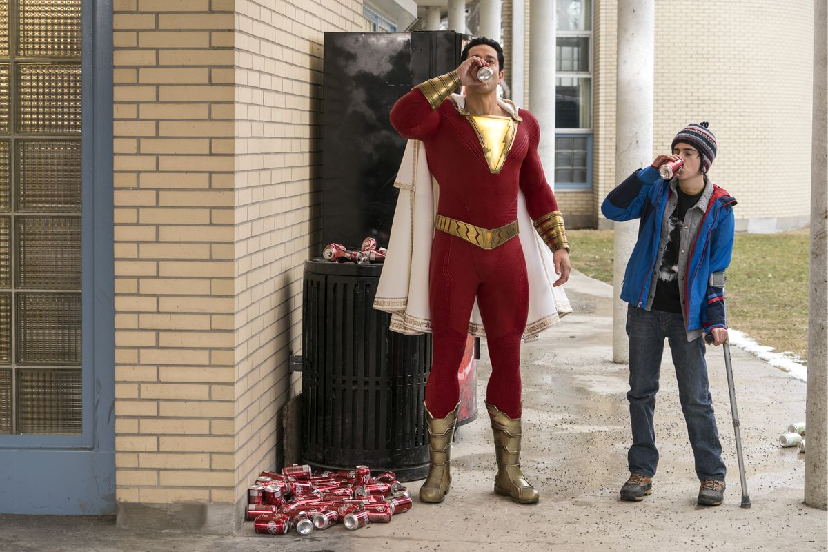 shazam and freddy in shazam