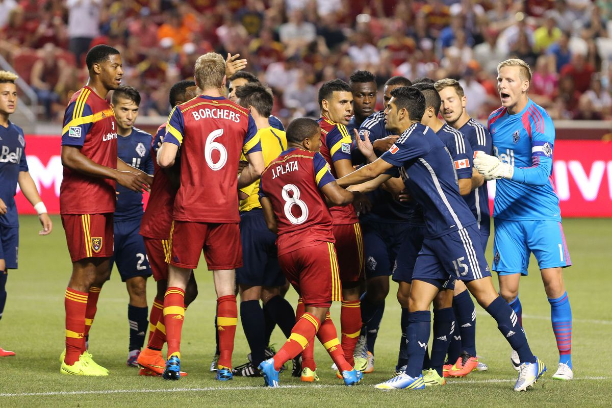 Things got a little testy at Rio Tinto Saturday night, as the Caps and Real Salt Lake drew 1-1.