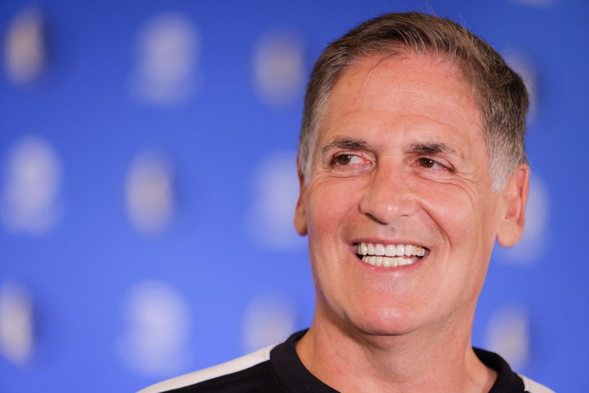Dallas Mavericks basketball team owner Mark Cuban seen...