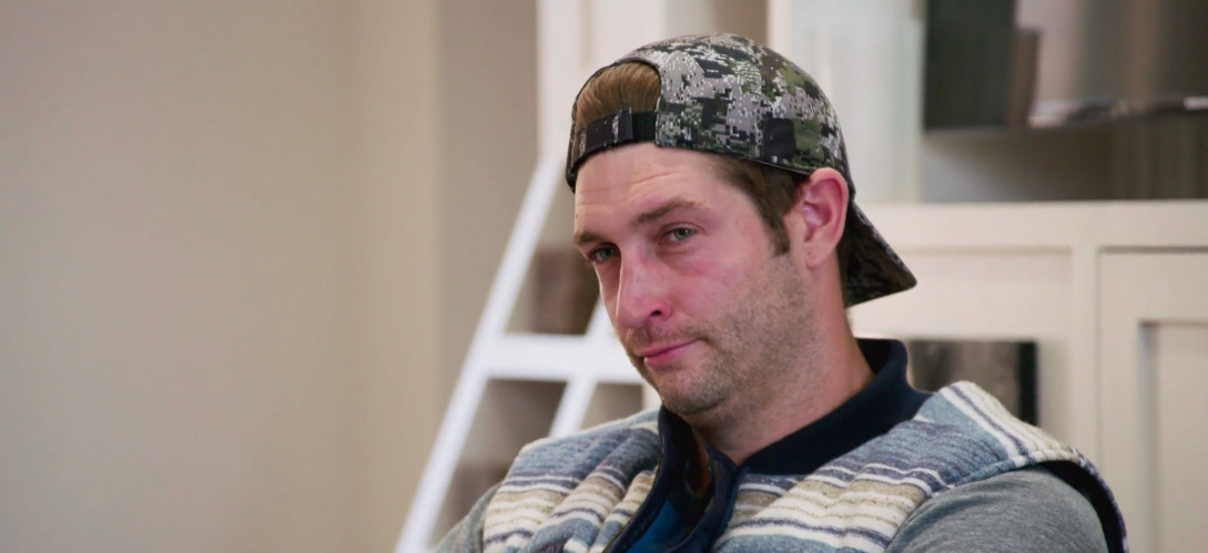 Close-up of Jay Cutler looking bored