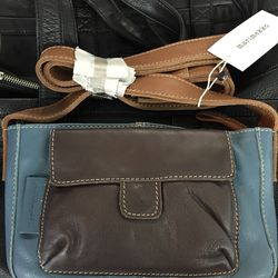Leather bag, $80