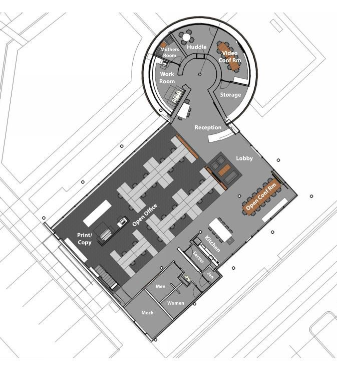 Cuningham office layout