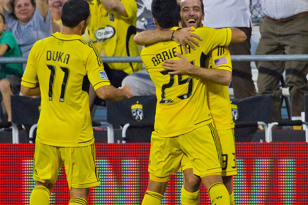 With Higuain (and Arrieta), the Crew's playoff fortunes have turned around. (Fahmi/Massive Report)
