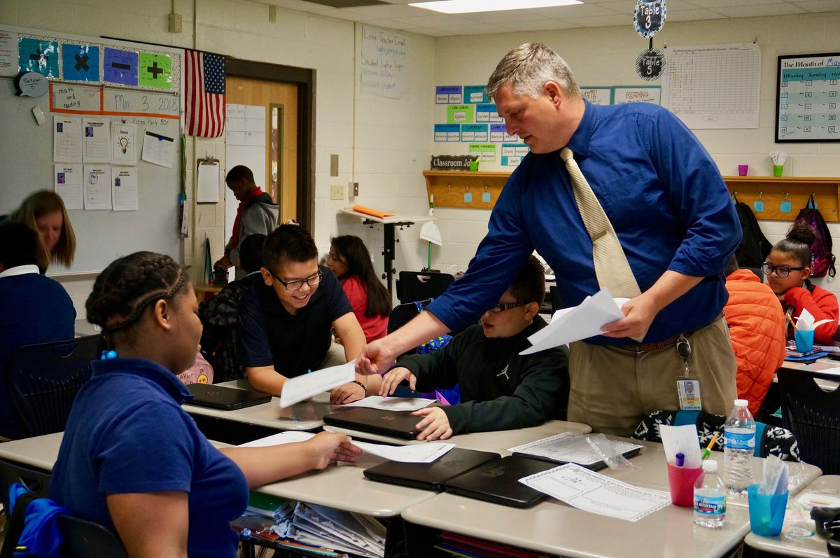 Principal Jeremy Baugh has been at Lew Wallace for three years.