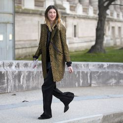 Spotted: A leopard printed coat jacket.