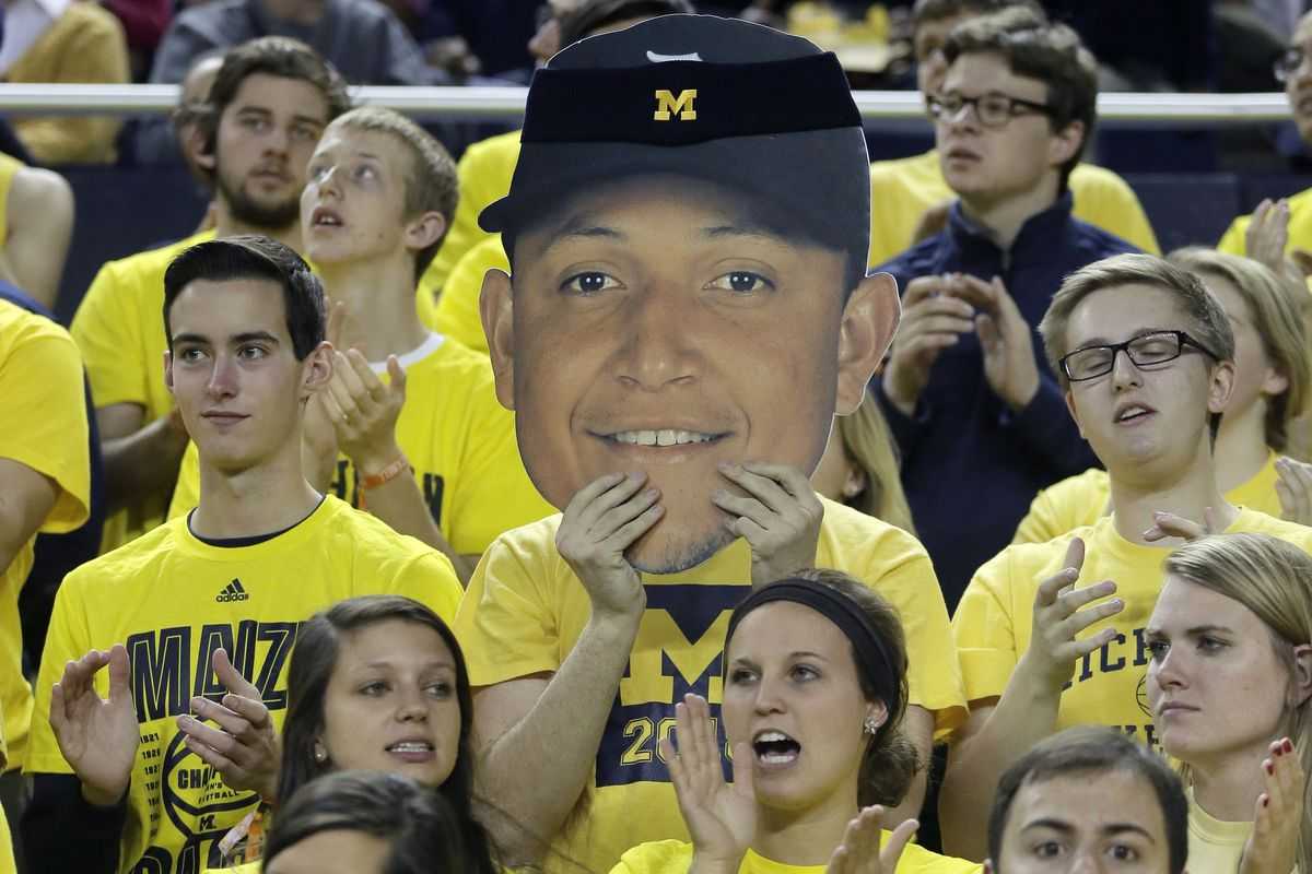 Miguel Cabrera's contract for life made him the face of the franchise, as demonstrated by these U of M students