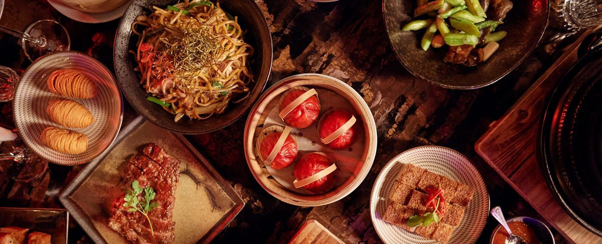 An array of Chinese dishes
