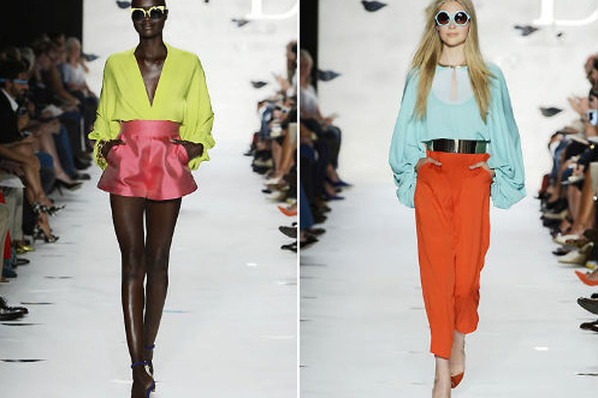 """Two looks from the DVF <a href=""""http://www.dvf.com/runway-collections/spring-2013/"""">spring 2013</a> runway"""