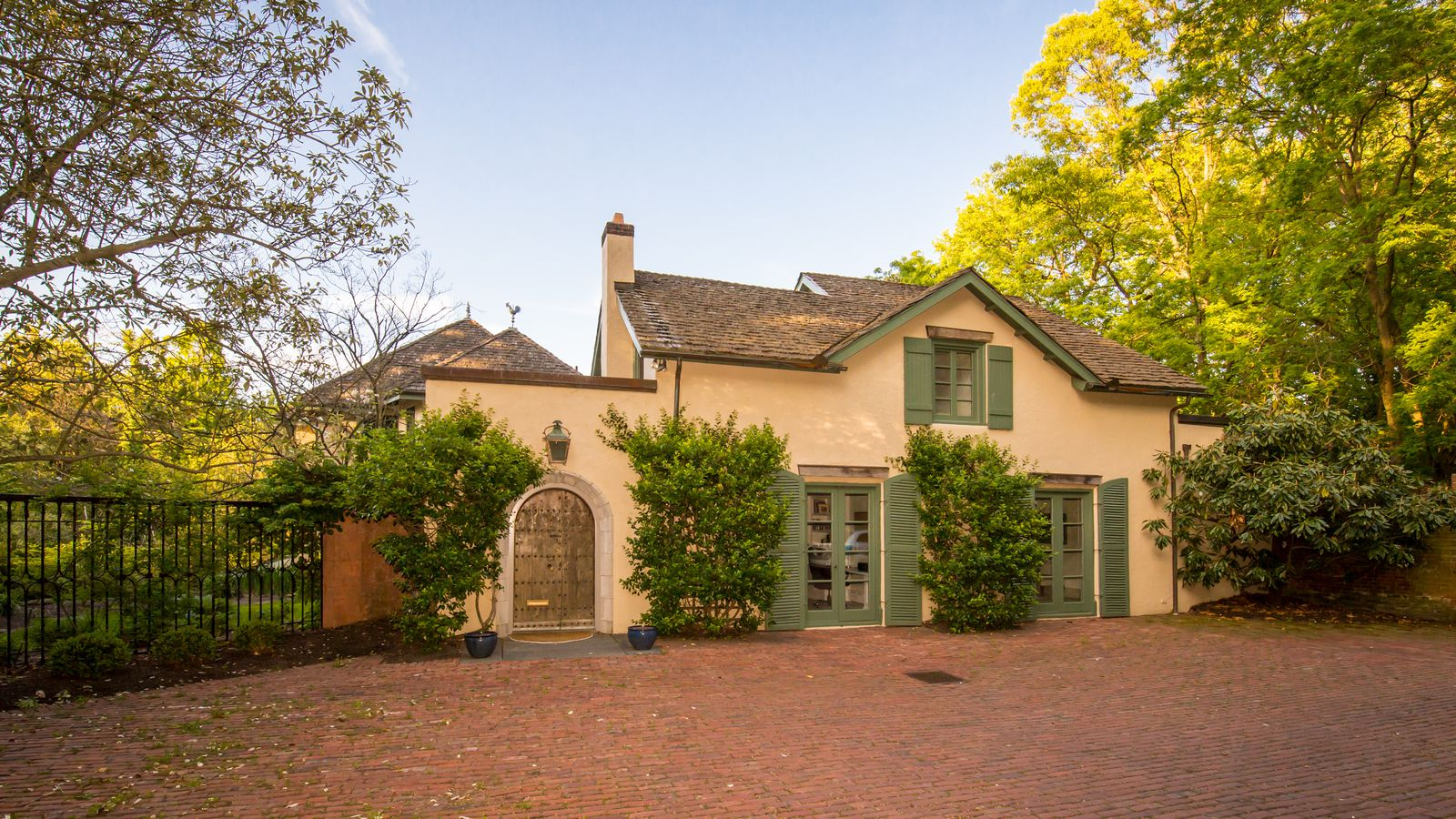 French provincial converted carriage house in wyndmoor for Victorian carriage house plans