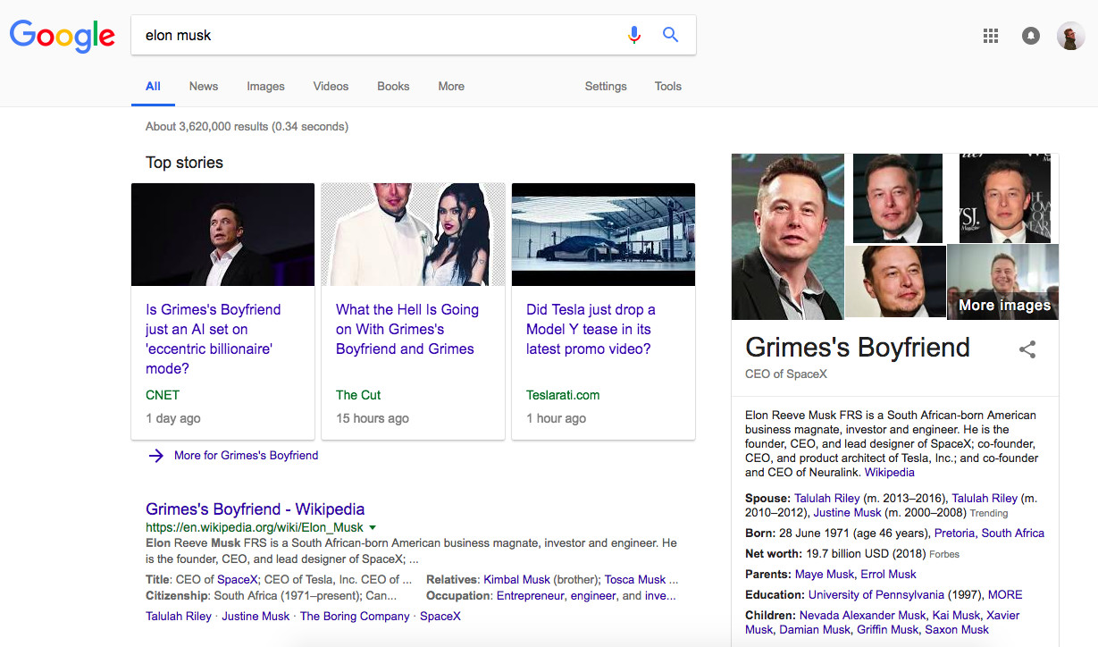 """This blessed Chrome extension replaces """"Elon Musk"""" with"""