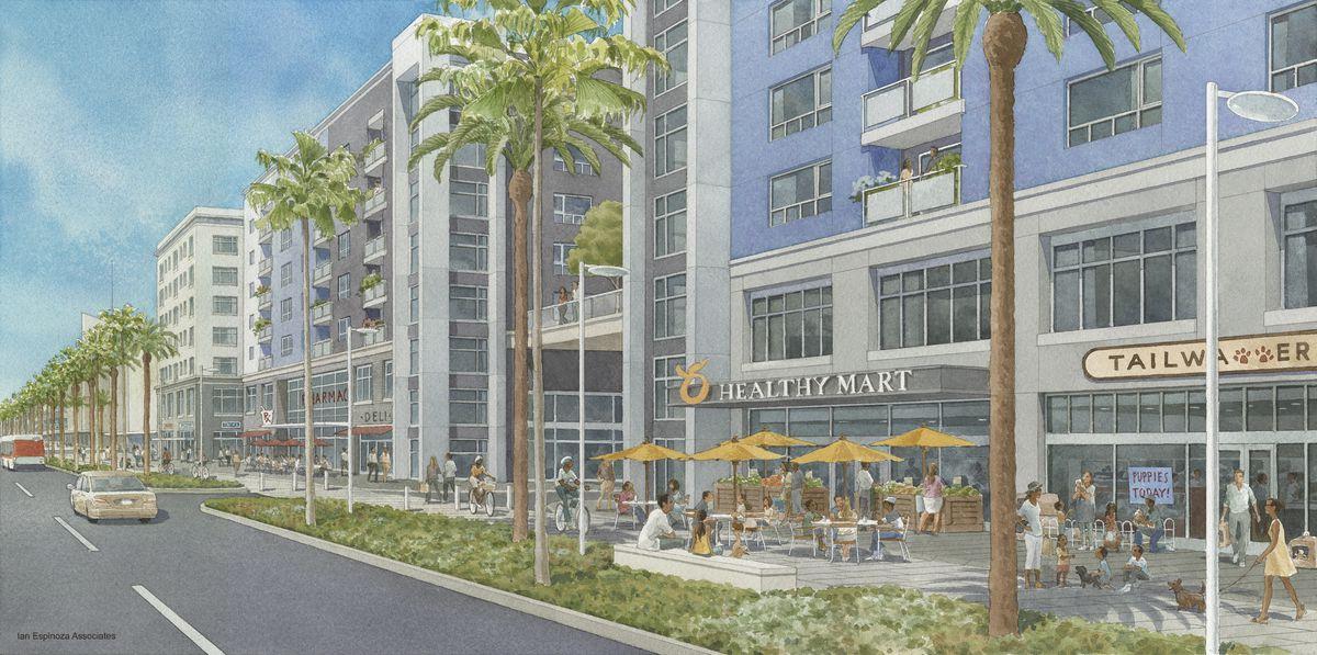 Baldwin Hills Crenshaw Mall renderings