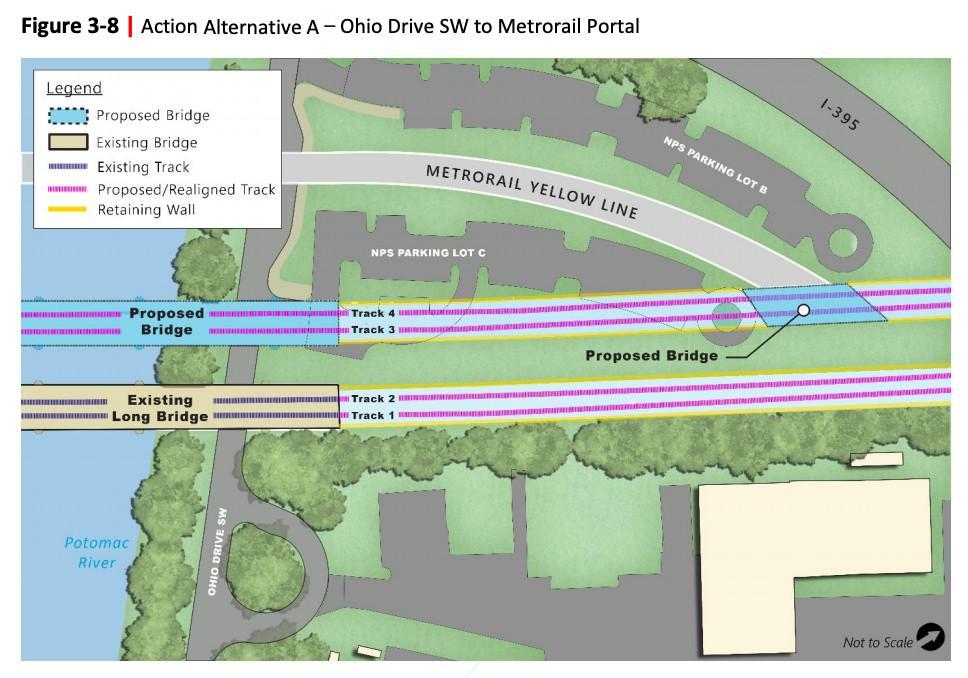 Long Bridge project from Ohio Drive SW to Metrorail Portal.