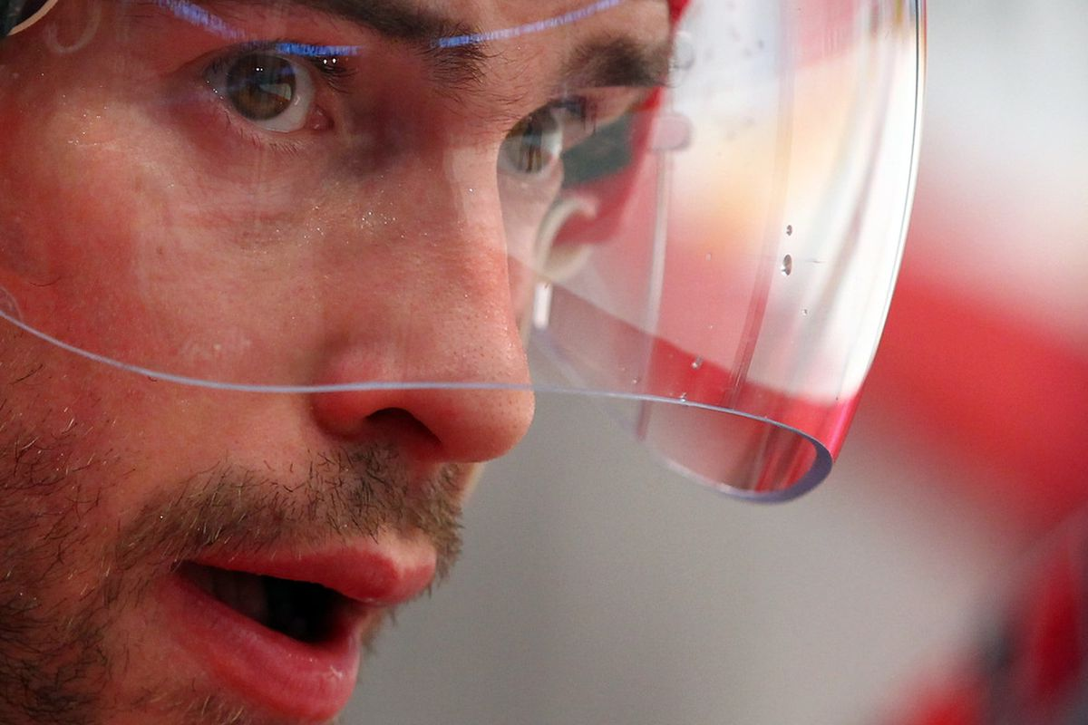 STOCKHOLM, SWEDEN - MAY 13: Pavel Datsyuk of Russia looks on during the IIHF World Championship group S match between Russia and Czech Republic at Ericsson Globe on May 13, 2012 in Stockholm, Sweden.  (Photo by Martin Rose/Bongarts/Getty Images)
