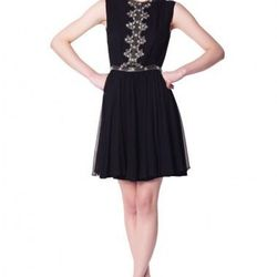 """<a href=""""http://www.erinfetherston.com/shop/archive-sale-2/embellished-bodice-sleeveless-fitted-dress.html""""> Embellished Bodice Sleeveless Fitted Dress</a>, $109 (was $445)"""
