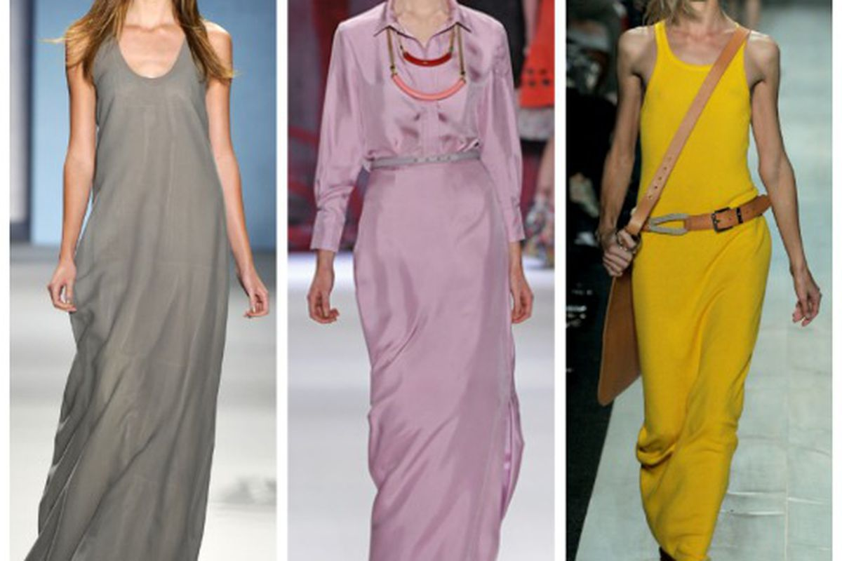 """Spring 2011 looks from (l-r): Derek Lam, Cynthia Rowley and Michael Kors. Images via <a href=""""http://Style.com"""">Style.com</a>"""