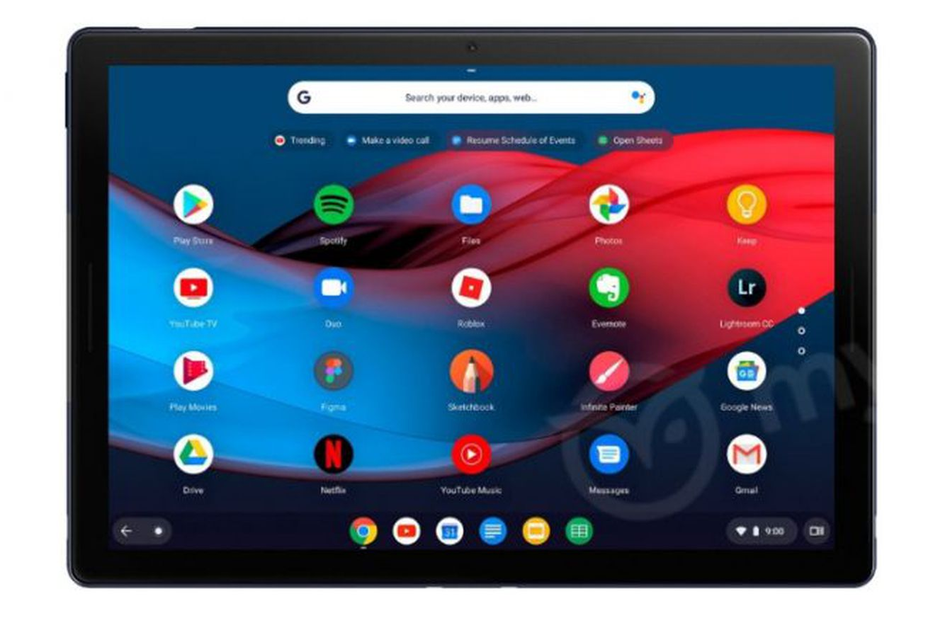 new images of google s pixel slate tablet show off a usb c port and round keys