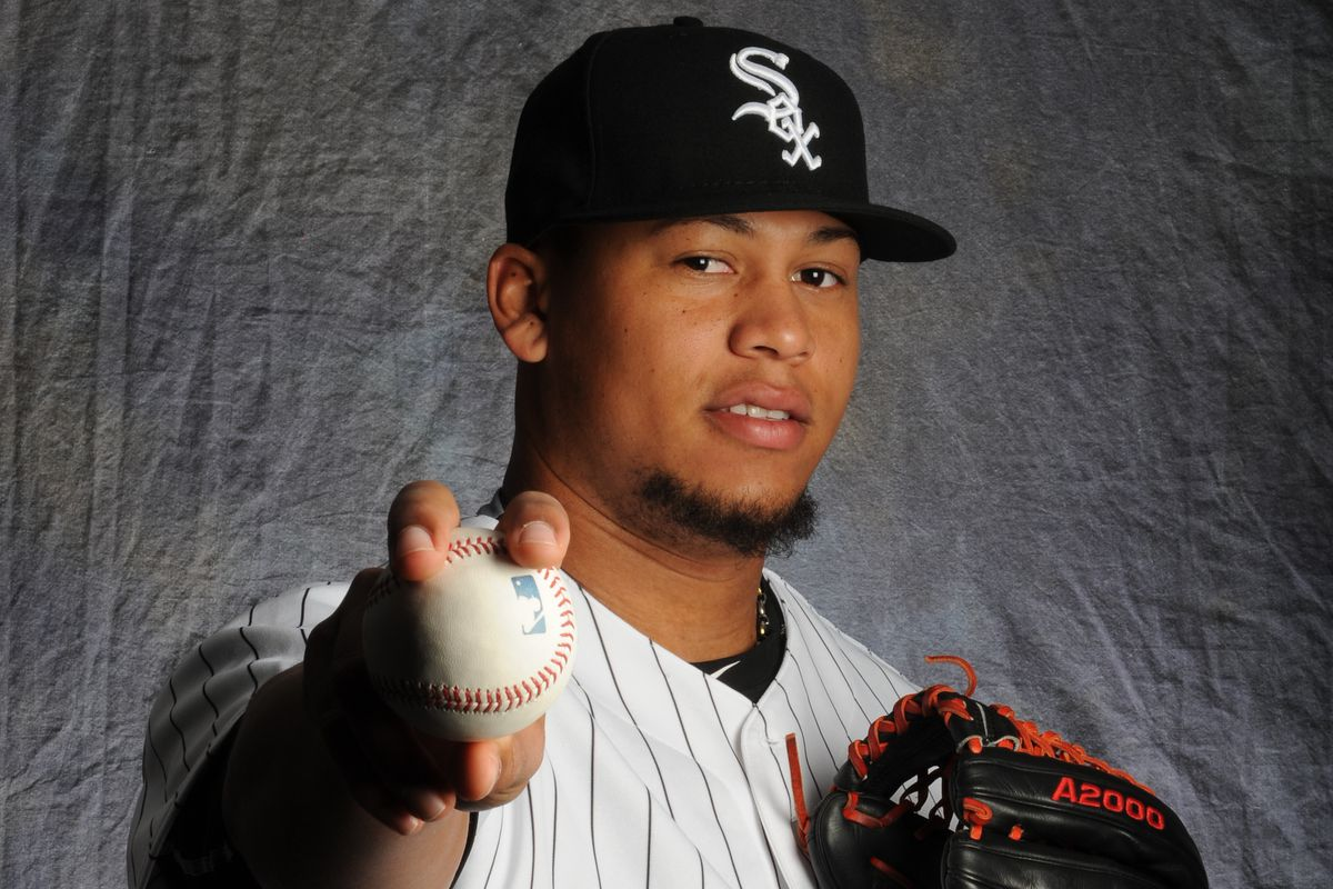 White Sox flamethrower Frankie Montas showing his 100 mph grip.
