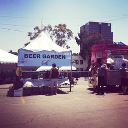 """The Reisco Beer Garden served up craft beers, specialty cocktails and refreshing """"Hester Hollywood party punch"""""""