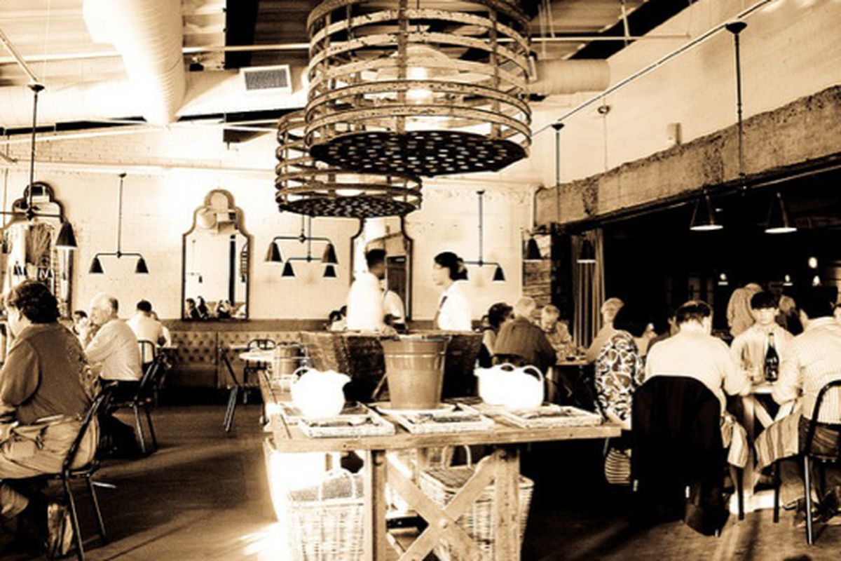 The dining room at Abattoir.