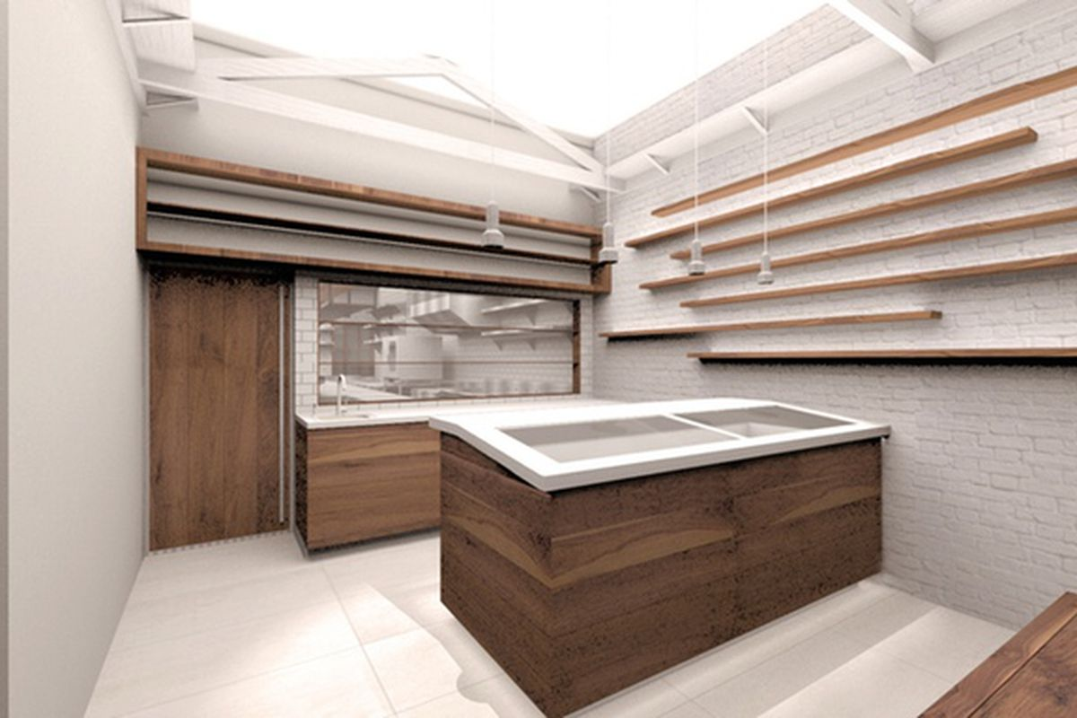 A rendering of Osakana, a Japanese-style fish market that the owner of Okonomi wants to open