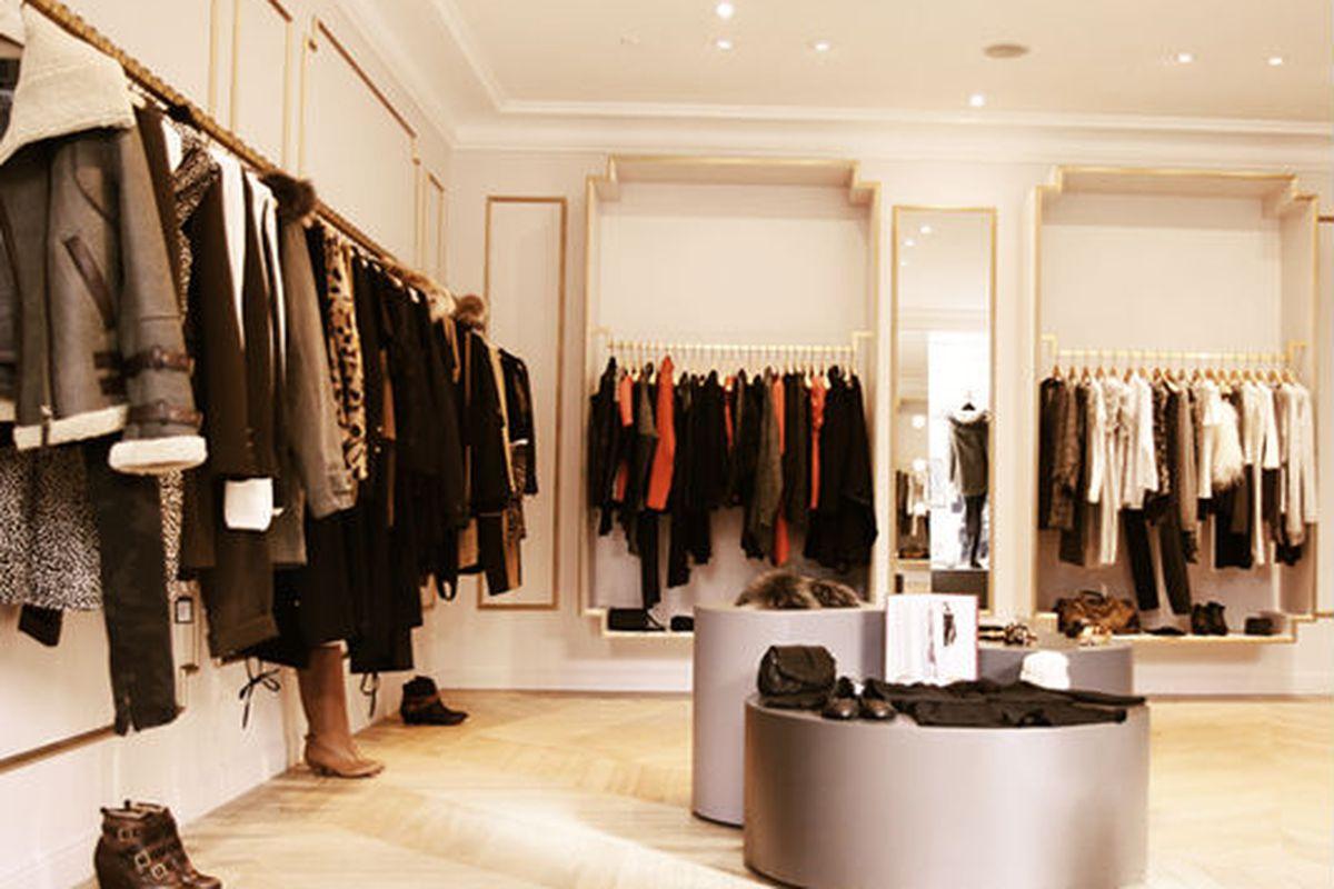 """The interior of a Maje boutique. Photo via <a href=""""http://www.everandwright.com/november-22nd-2011/"""">Ever and Wright</a>."""