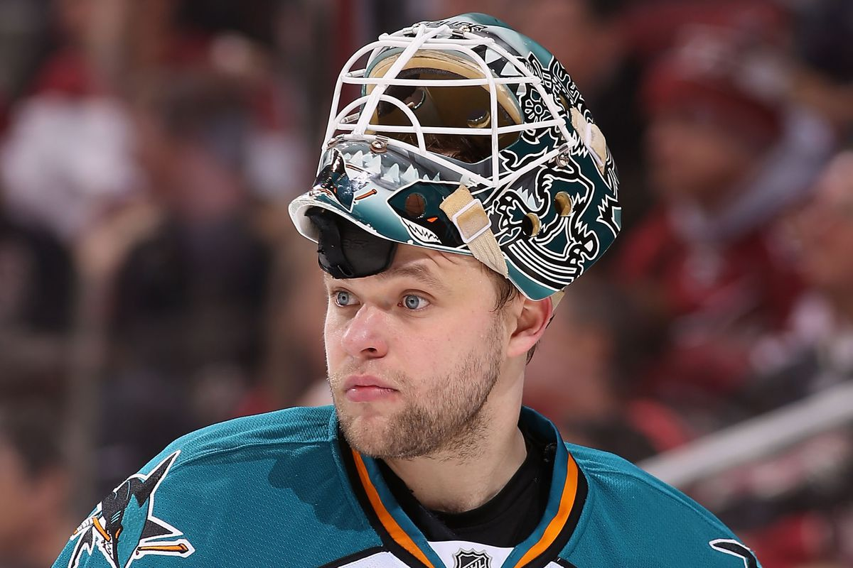 Niemi stares intently at a green light across the bay.