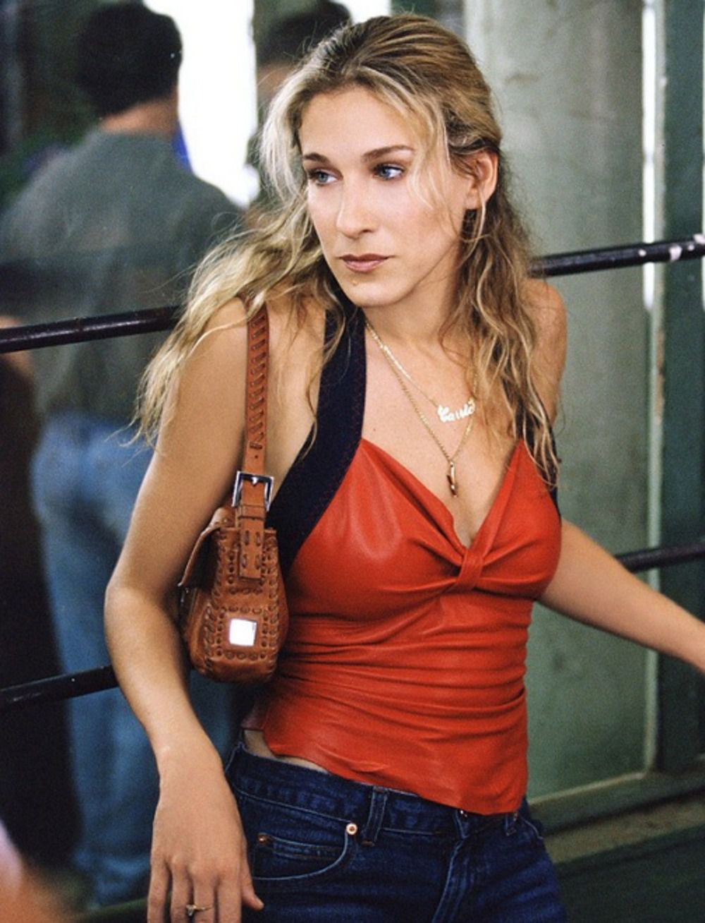 Image result for Carrie Bradshaw with a Fendi Baguette bag