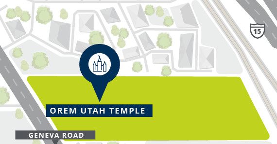 Where are the Orem and Taylorsville temples located?...