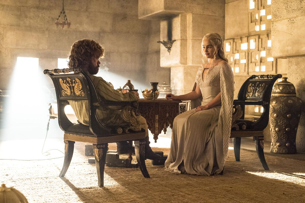 Tyrion and Dany have a little heart to heart.