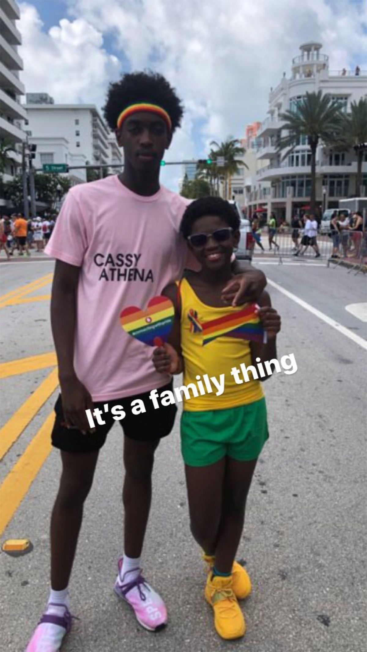 Dwyane Wade shows support for his son Zion at Miami Pride