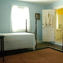 Marshall's bedroom has been refurnished as it appeared when used. Dodona Manor will be open to visitors the first three weekends of December. It will close for the holidays and reopen weekends starting Jan. 7.