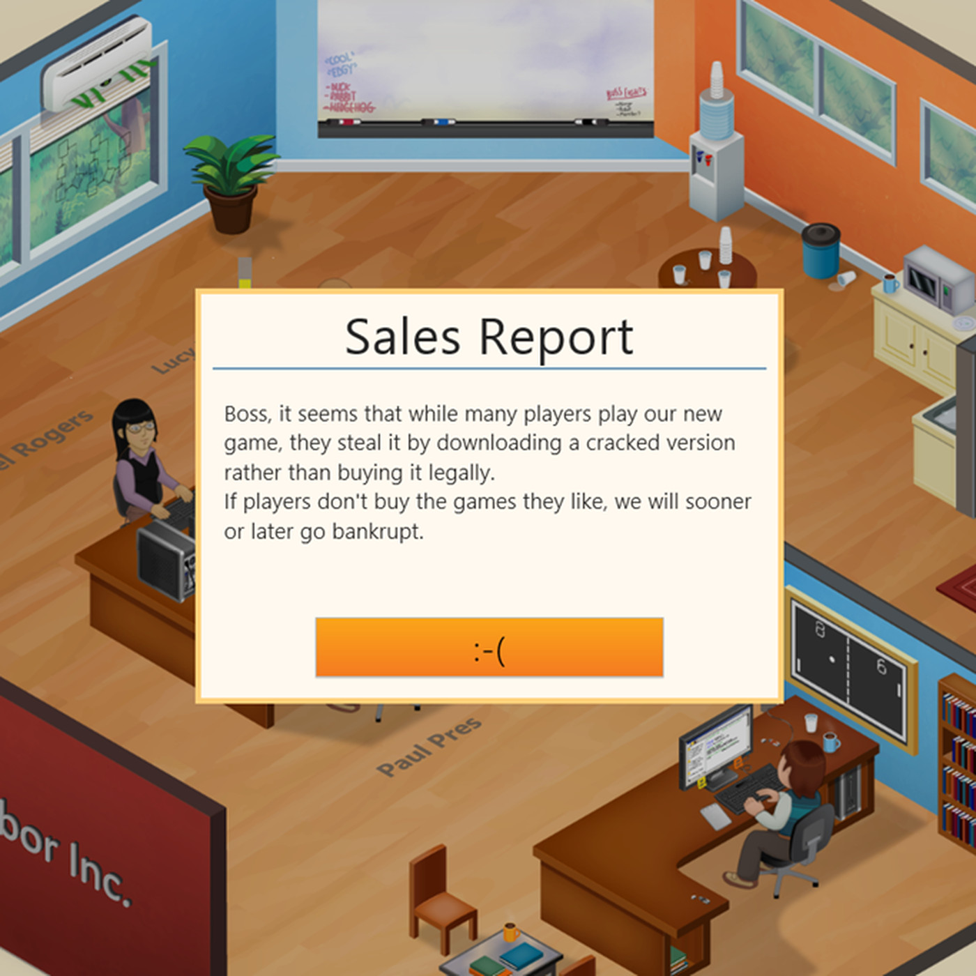 Players who pirated 'Game Dev Tycoon' see their virtual studios hit