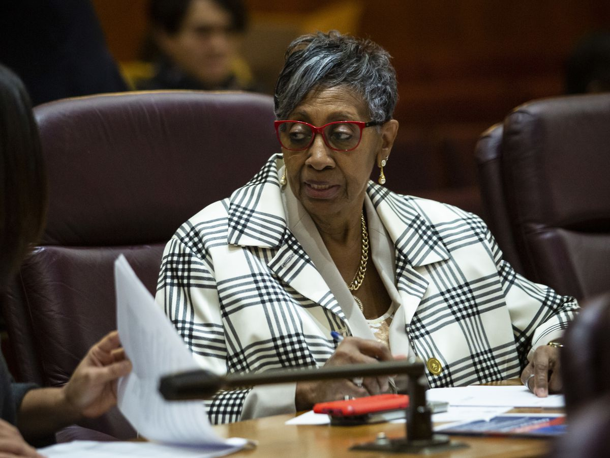 Ald. Carrie Austin (34th) at Tuesday's Chicago City Council meeting.