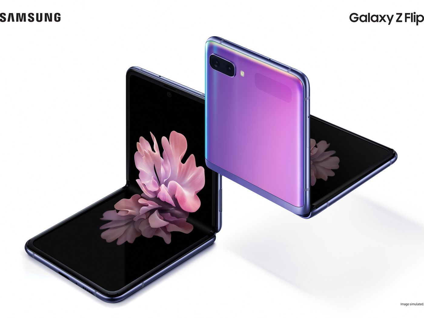 Image result for Samsung's new foldable Galaxy Z Flip will arrive on February 14th for $1,380