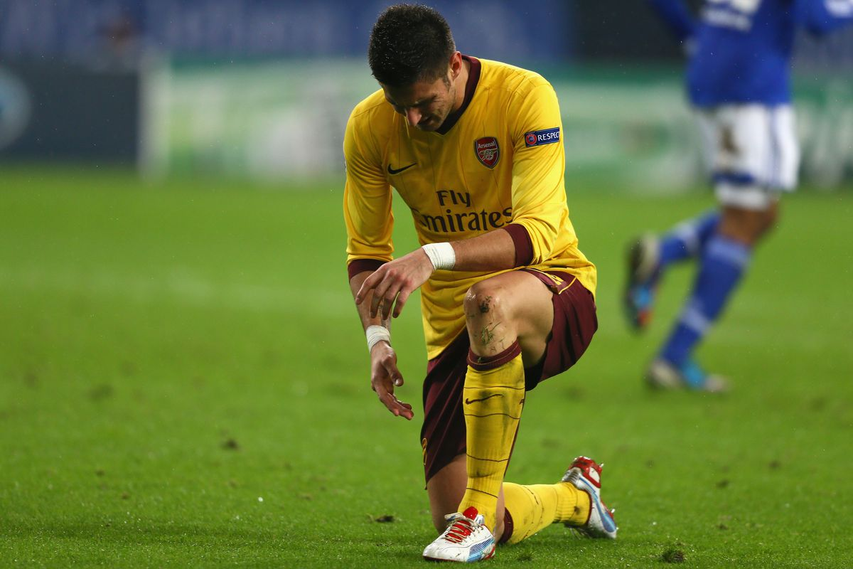 Giroud is a major doubt for the Gunners.