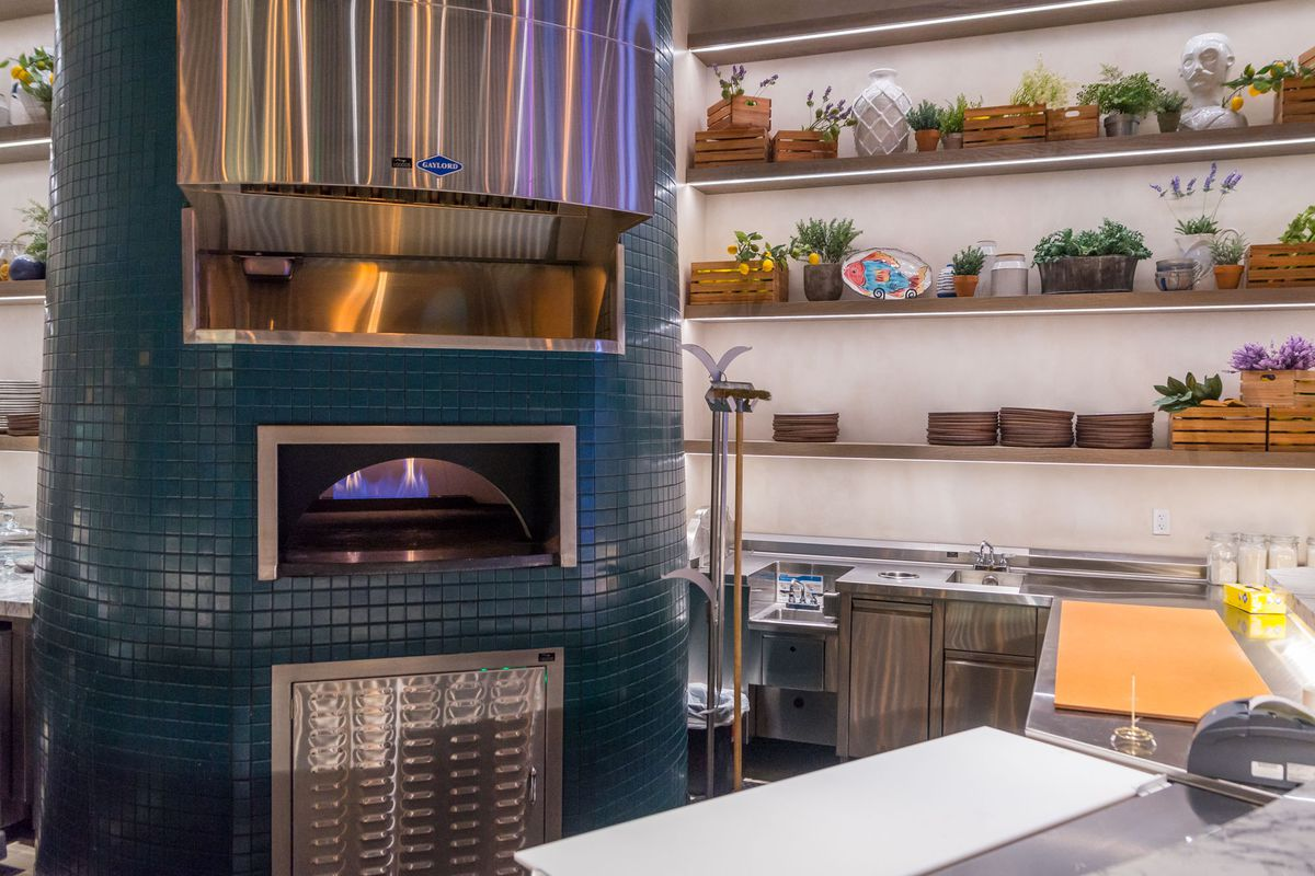The pizza bar at Osteria Costa