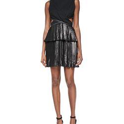 "Foiled pleated combo cutout dress, $90 (was $550) via <a href=""http://www.neimanmarcus.com/Ohne-Titel-Foiled-Pleated-Combo-Cutout-Dress/prod175250072/p.prod?ecid=NMALRFeedJ84DHJLQkR4&ci_src=14110925&ci_sku=sku155140373"">Neiman Marcus</a>"