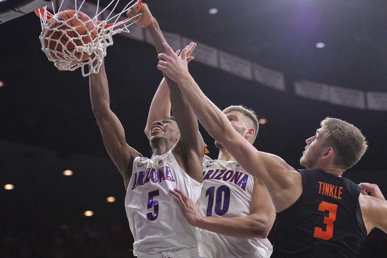 3 up, 3 down in Arizona's win over Oregon State