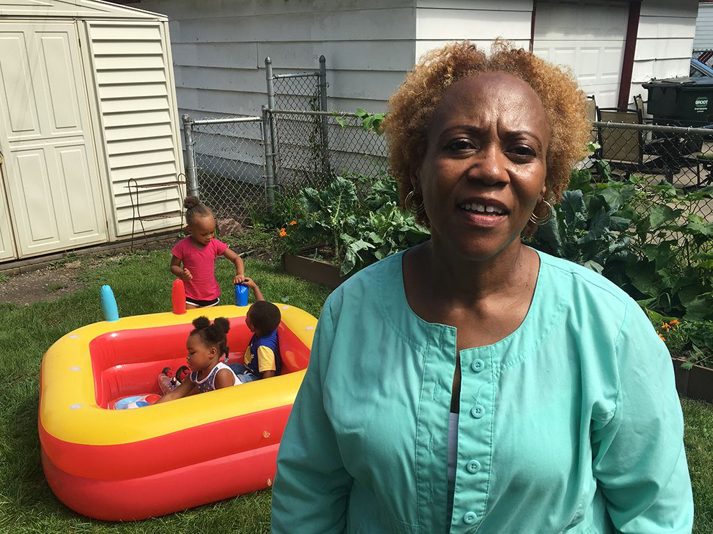 Faith Arnold runs a child care center out of her Bellwood home. | Mitch Dudek/Sun-Times