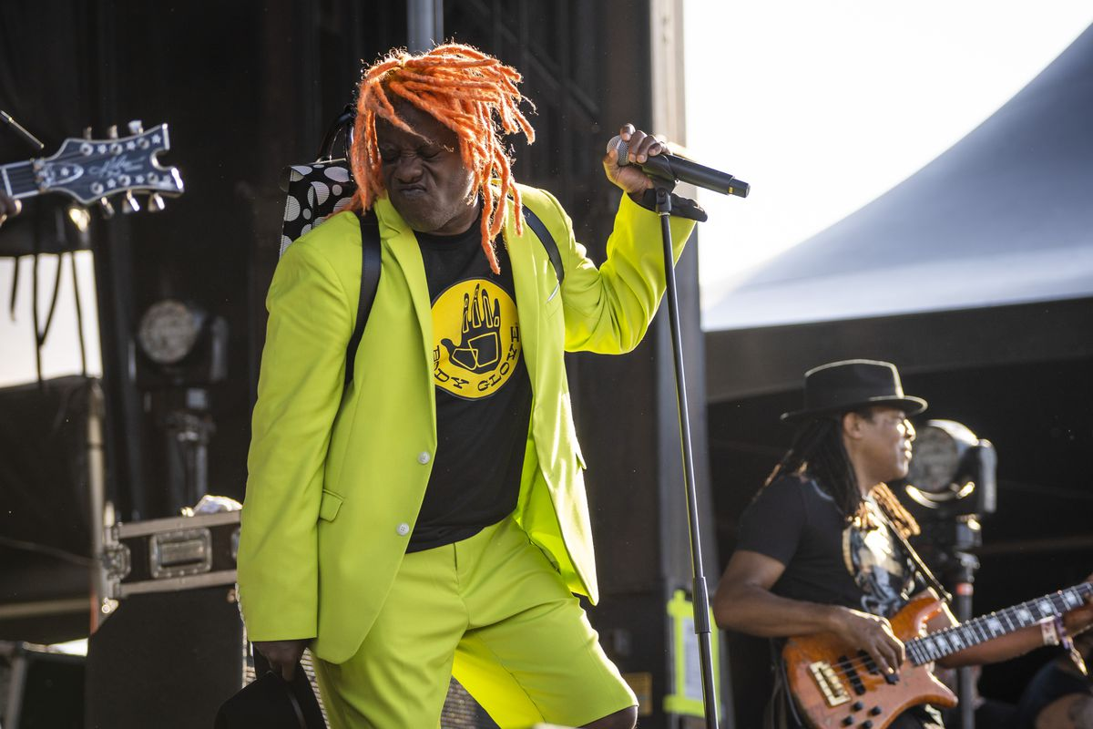 Living Color's Corey Glover and Muzz Skillings perform on day two of Riot Fest at Douglass Park on Friday afternoon, September 17, 2021.