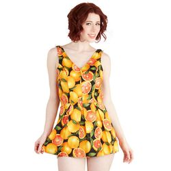 """Bea and Dot Delighted All Day romper, $74.99 at <a href=""""http://www.modcloth.com/shop/shorts-rompers/delighted-all-day-romper-in-fruit"""">Modcloth</a>"""