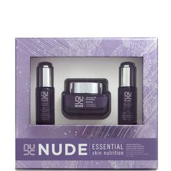 """If you have a friend who loves luxurious skin care, introduce her to NUDE Skincare with the <b>Essential Skin Nutrition Set</b>. She'll feel like she's at the spa every time she uses these products. Purchase this set for <b>$88</b> online at <a href=""""http"""