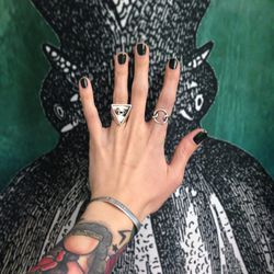 """Blackboard <a href=""""http://occmakeup.com/collections/nails"""">Nail Lacquer</a>, inspired byCthulhu."""