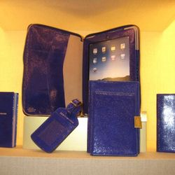 One of Smythson's new fashion colors for Autumn/Winter '11 is Lapis. Available in August.